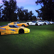 A Bunch of Nice Cars on a Golf Course