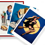 Pinup Girls on Postcards. About Time.