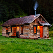 A Log Cabin. With a Private Hot Spring.
