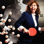 Ping-Pong and Sarandon in a Museum