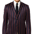 The Red-Striped, Navy-Blue Jacket
