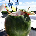 Sangria-Filled Watermelons on a Roof