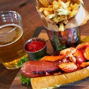 There Are Burgers and Lobster-Topped Hot Dogs Here