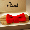 Plank Wooden Bow Ties