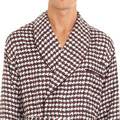 Abstract Houndstooth Robe