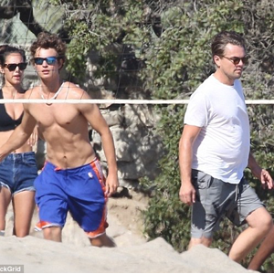 Leonardo DiCaprio and Ansel Elgort Faced Off in an Epic Beach Volleyball Match