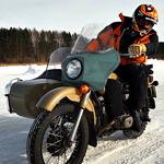 Biking Across a Frozen Lake in Siberia