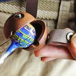 Leather & Wood Lollipop Case