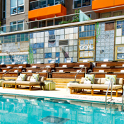 Poolside Yoga at McCarren Hotel