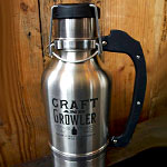 A Stainless-Steel Beer Growler