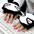 USB Panda Warming Gloves