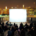 Watching Movies on an LES Rooftop