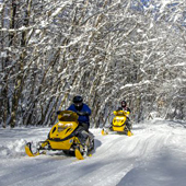 Snowmobiling in the Granite State