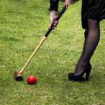 Bubbly and Croquet at Barnsdall