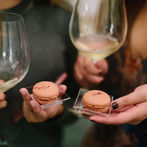 Savory Macarons, Wine and One Very Happy Date