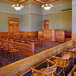The Courtroom at the Old Red Museum