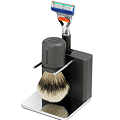 TwinLuxe Anthracite Shaving Kit
