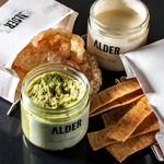 Chips, Guac and Cheese from Alder