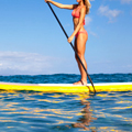 Stand-Up Paddleboarding in the Ocean