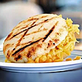 Bacon and Cheddar Arepas in Midtown