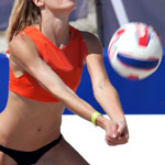 Models Playing Volleyball. Of Course.