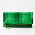 Basket-Weave Fold-Over Clutch