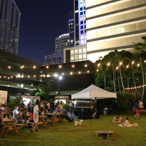 Oh Look, It's a Biergarten at Brickell City Centre