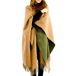 This Reversible Wool Wrap Cape
