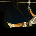Ziplining Under the Cover of Night