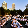 A Flash-Mob Dinner Dressed in White