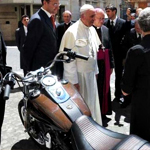 Pope Francis Is Hawking His Harley