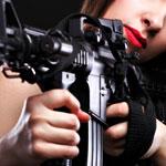 Shooting an AK-47. Together.