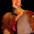 Riding a Mechanical Bull at NightLife