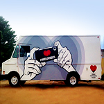 An Instagram Art Gallery in a Truck