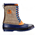 These Remarkably Tweedy Duck Boots