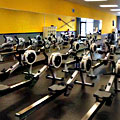 An Entire Gym of Rowing Machines