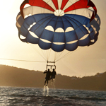 Tandem Parasailing over the Westside
