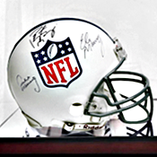 Look at All These Autographed NFL Helmets