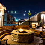 Fire Pit, The Rooftop at Nora