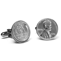 Cufflinks Made from Silver Pennies