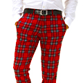 Girton Plaid Wool Pants