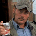 Jaws. With Era-Correct Beer Cans.