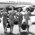 Stewardesses Talk Shop Downtown