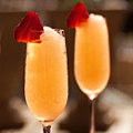 Frozen Champagne Bellini at Azure