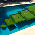 These Golf Greens Float in Your Pool