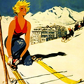 French Ski Bunnies, Now in Poster Form
