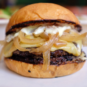 A Filipino Double Burger in Chinatown
