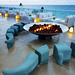 A Beachfront Terrace at the W