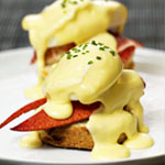 Brunching with Lobster Benedicts