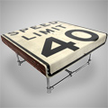 Furniture Made from LA Street Signs